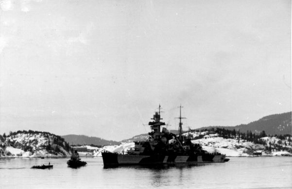 Prinz Eugen at Lofjord for repairs.