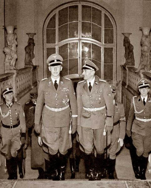 Heydrich at Prague Castle