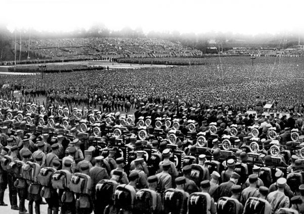A Nazi Nuremberg rally in the early 1930s.