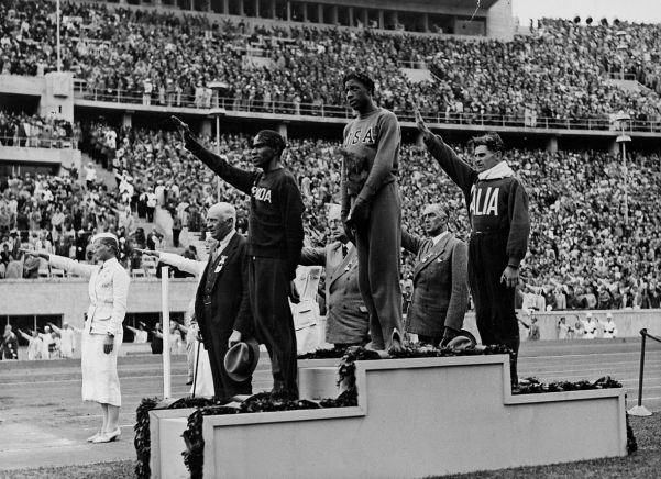 Black athletes winning gold medals was not part of the Nazi plan. This is Mitte Woodruff, winner of the 800 metres.