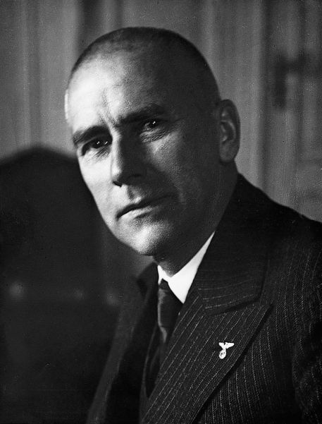 Minister of the Interior Wilhelm Frick, who carried out a cosmetic exercise to prevent aid to Franco.