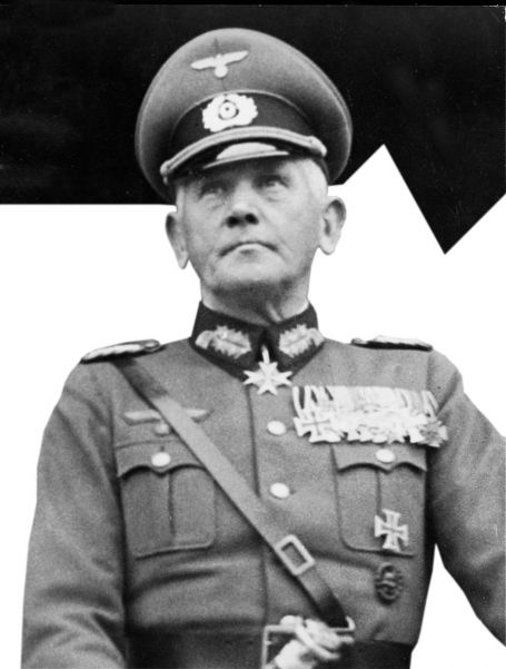 Field Marshal Werner von Blomberg. He opposed Hitler's plans to march into the Rhineland and the Sudetenland, and was therefore removed.