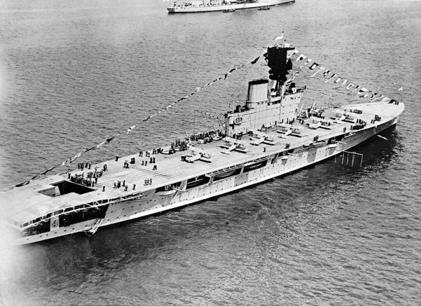 The British aircraft carrier Courageous was sunk in September 1940 by a U-boat