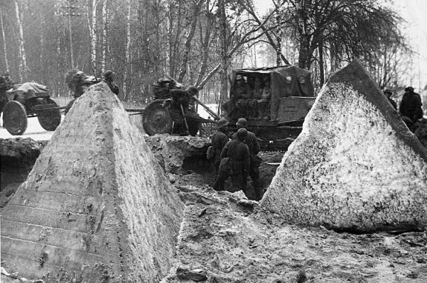 Soviet forces in Finland dismantle antitank obstacles along the Mannerheim Line