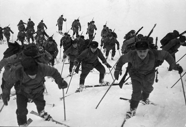 Norwegian ski-troops were especially useful in disrupting German lines of communication