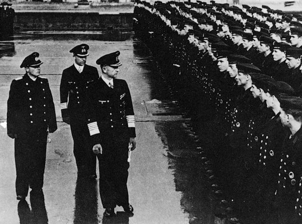 Admiral Karl Doenitz (third from left), replace Erich Raeder as commander-in-chief of the German naval forces