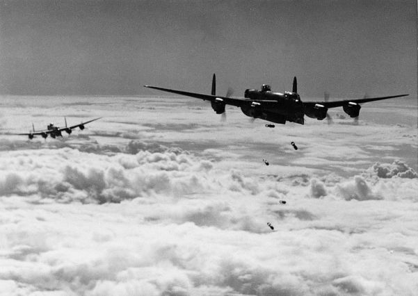 Lancasters over Germany in early January. At this time the RAF was sufering losses of up to 10 percent per month