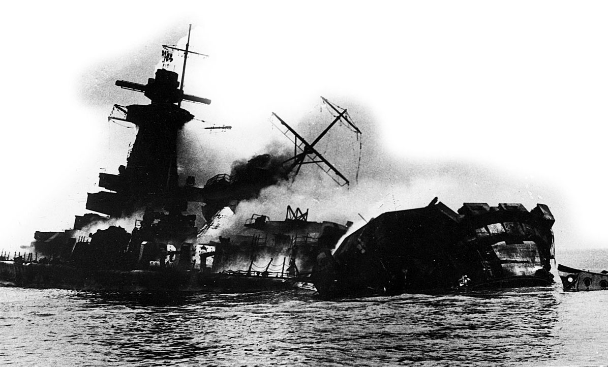 Germany's pocket battleship Graf Spee is scutled after being trapped by the Royal Navy in neutral Uruguay